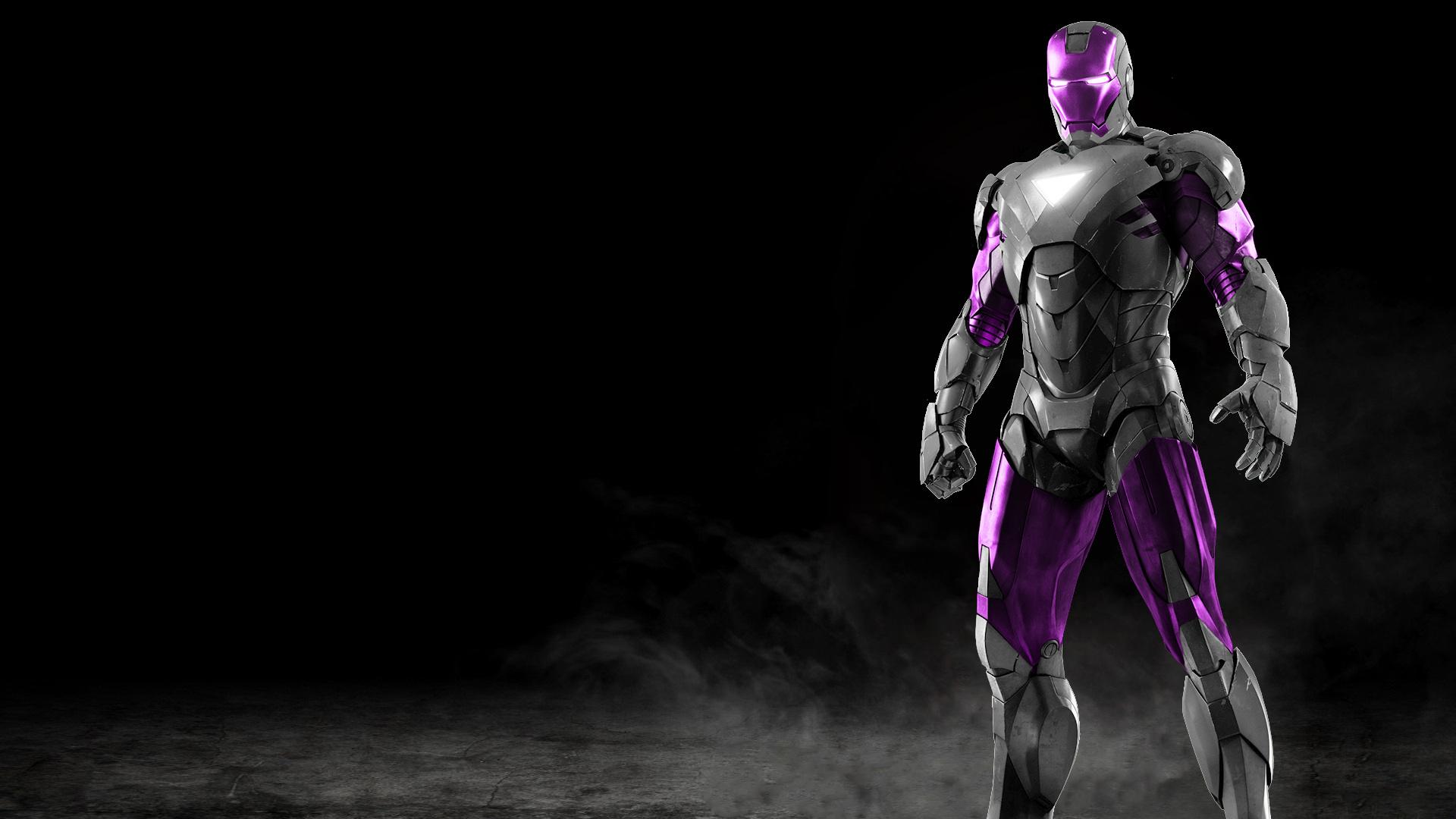 Iron Man Silver + Purple by 666Darks