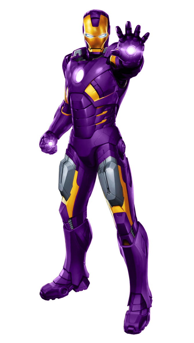 Iron Man Purple + Gold 2 by 666Darks