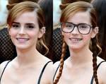 Emma Watson nerd transformation