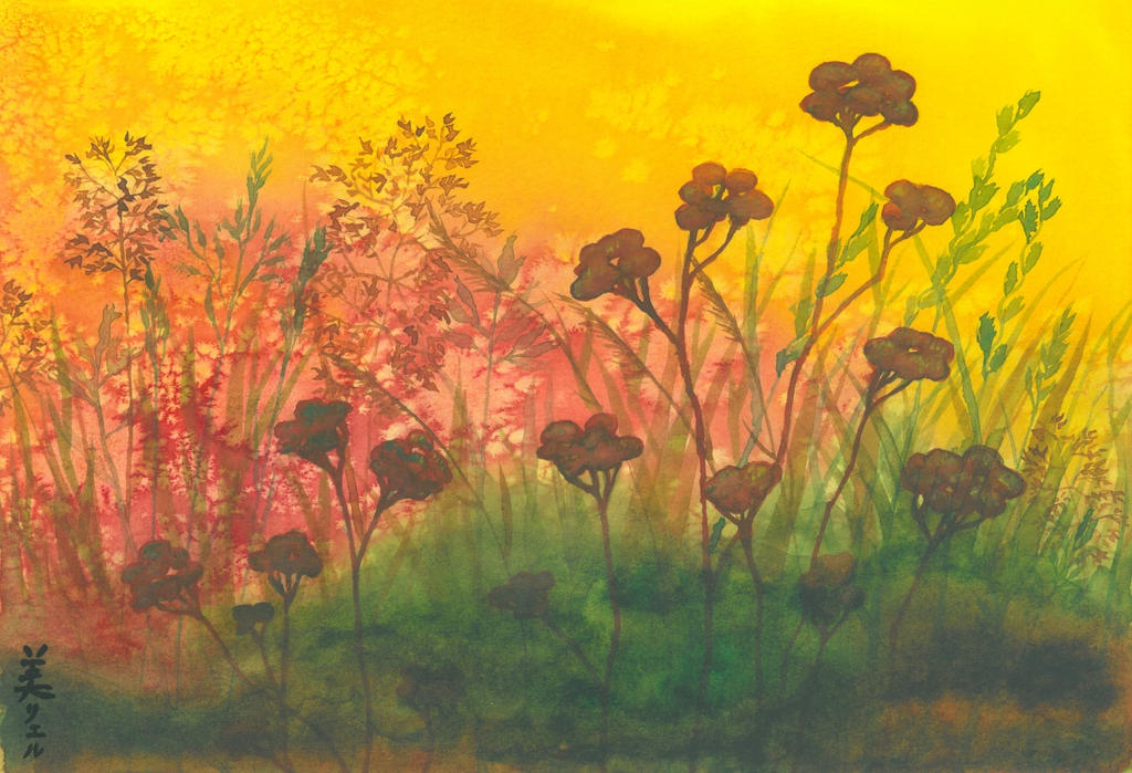 Yellow Meadow with Tansy by MirielVinya