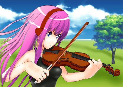 play violin by luka megurine