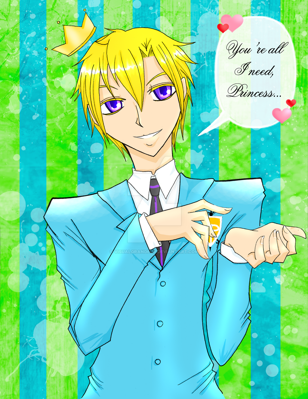 Ouran Prince by visualgrandeur