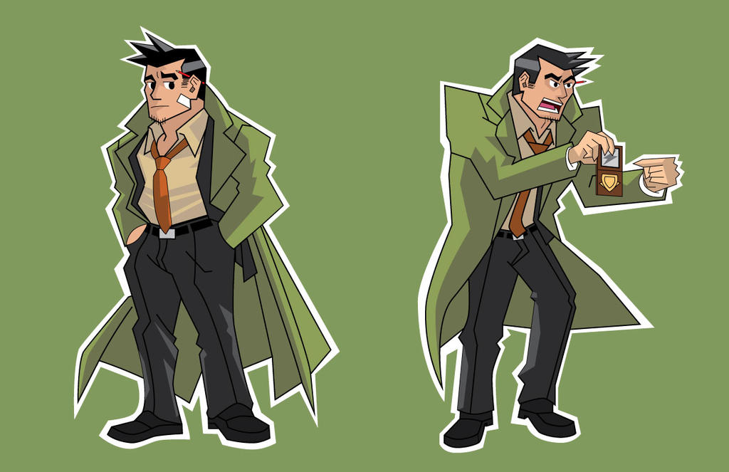Ace Attorney restyle - Gumshoe by Arnumdrusk