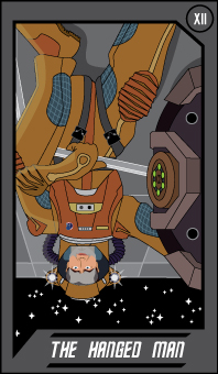 Trek Tarot - The Hanged Man by Arnumdrusk