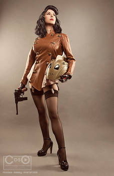 Bettie Page as the Rocketeer