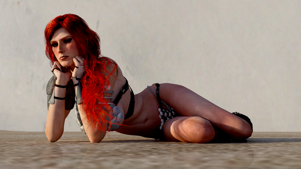 Red Sonja - Lazy Day by Vad-mig-orolig