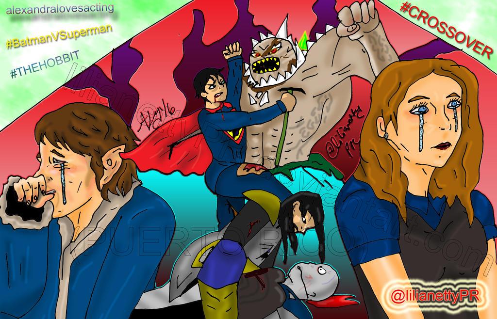 crossover batman v superman plus the hobbit by lilianettypr on