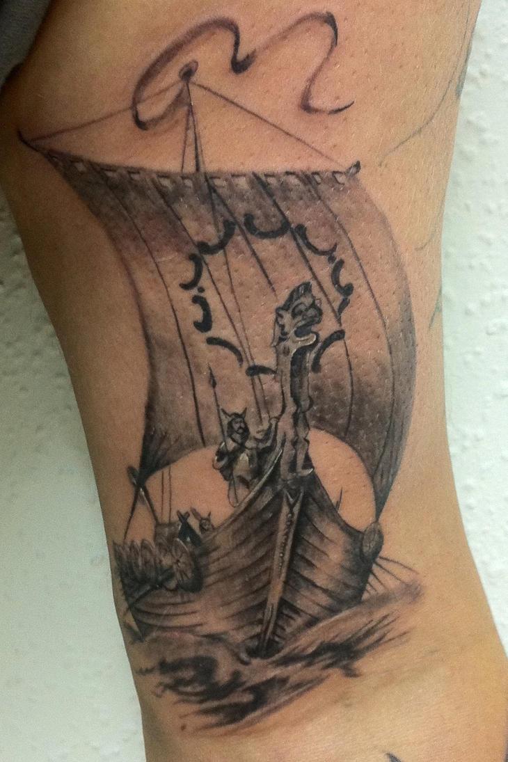 viking ship by radutattoo on deviantart