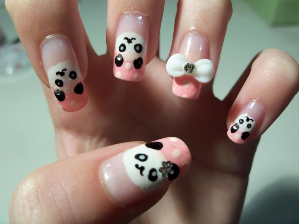 Panda Nail Art By Mimimemeko On Deviantart