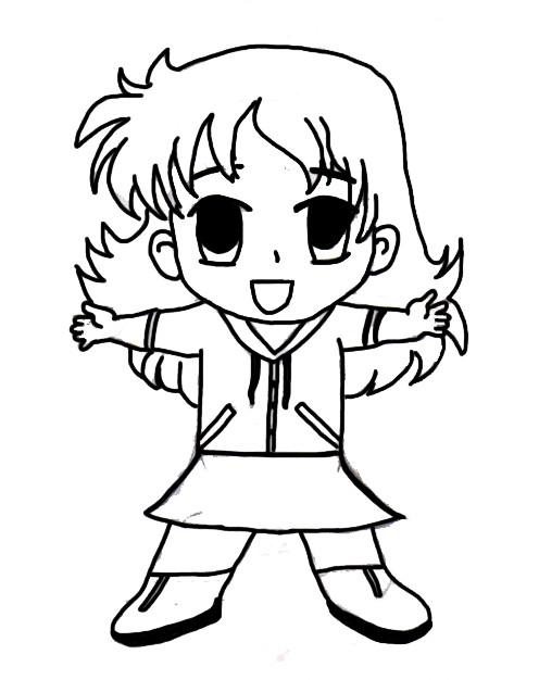 First Chibi Girl   Sketch by Tigurus by Tigurus