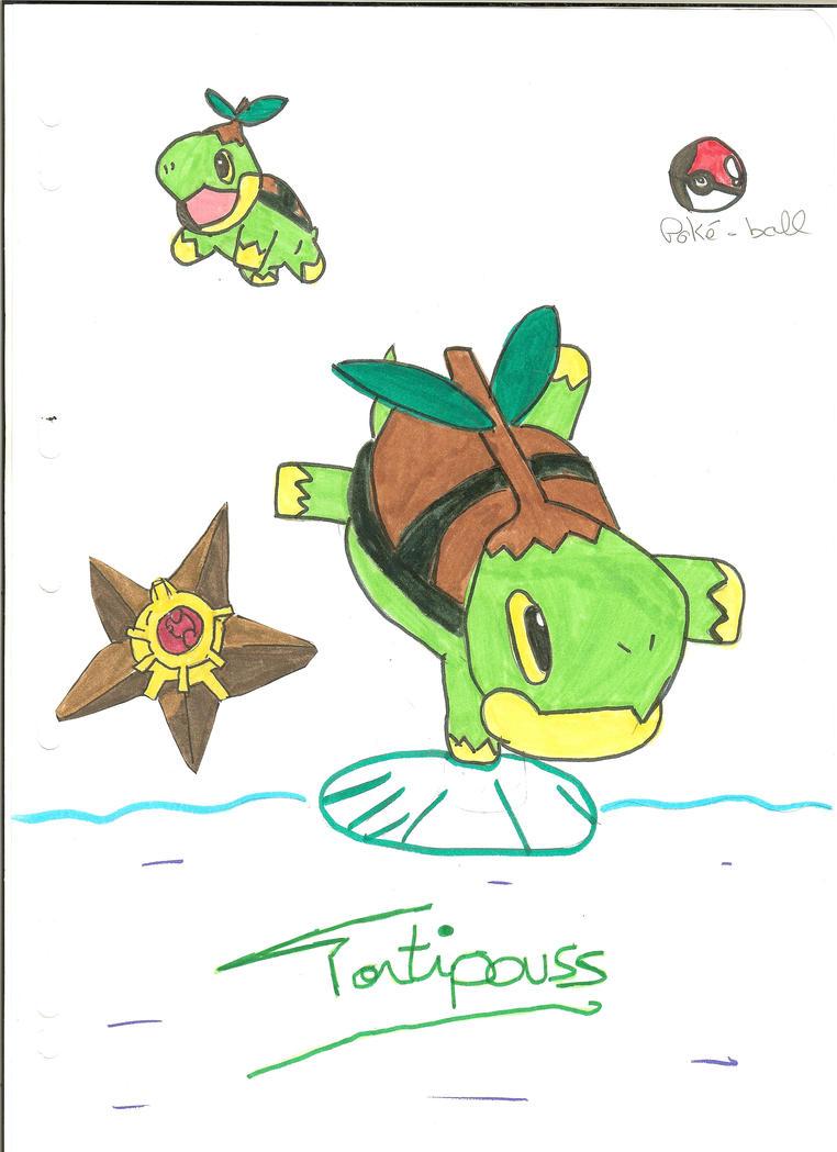 Pokemon tortipouss colorier les enfants - Evolution tortipouss ...