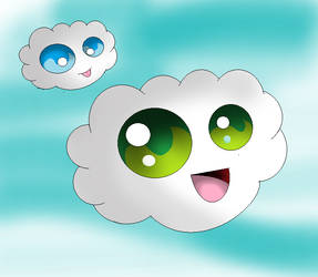 cute plush clouds