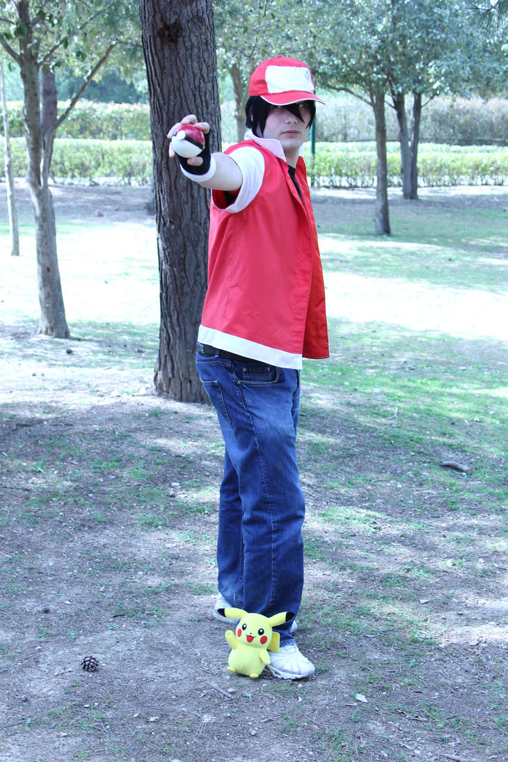 Ready to Fight Red Pokemon Trainer Cosplay by Xpyro90