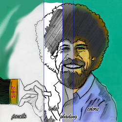 Phases of Bob Ross by Sylvaroth