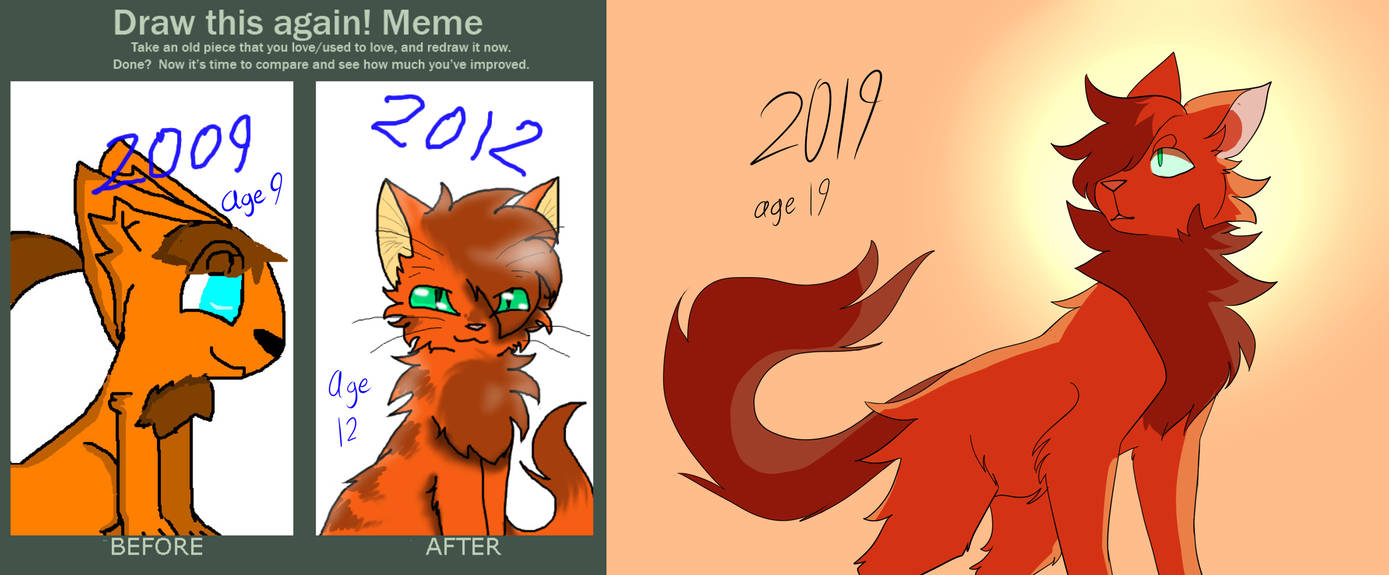 Firestar - 10 year difference by rythiian
