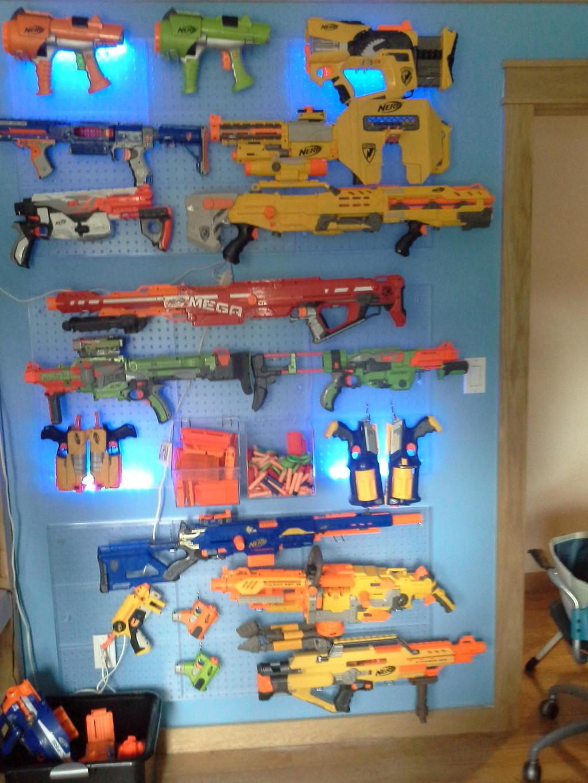 ... My Nerf Gun Wall By Jedi Iceblade On Deviantart