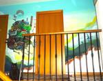 Howl's Moving Castle Mural ^^
