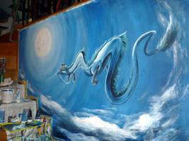 Spirited Away Mural by WormholePaintings