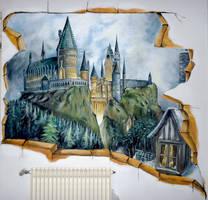 Breach to Hogwarts - mural :) by WormholePaintings
