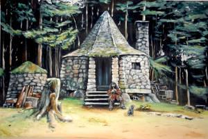 Hagrid's hut :) by WormholePaintings