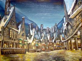 Hogsmeade :) by WormholePaintings