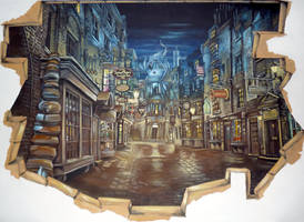 Breach to Diagon Alley n.2 done :) by WormholePaintings