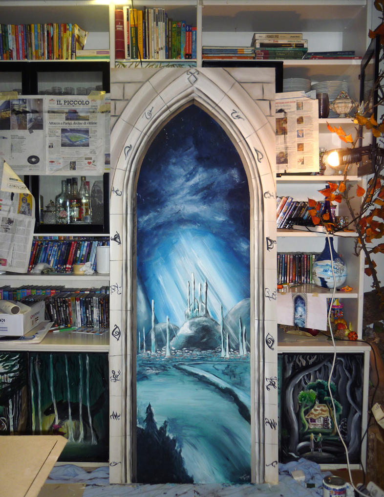 Portal to Alicante (will become a sliding door) by WormholePaintings ... : door portal - pezcame.com