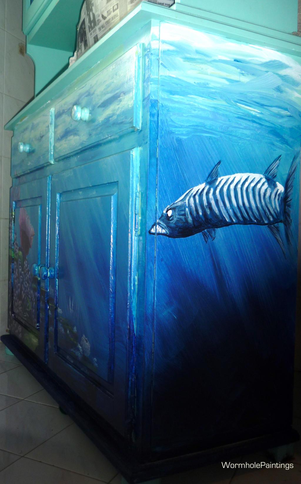 Lurking barracuda on my Finding Nemo cupboard.. by ...
