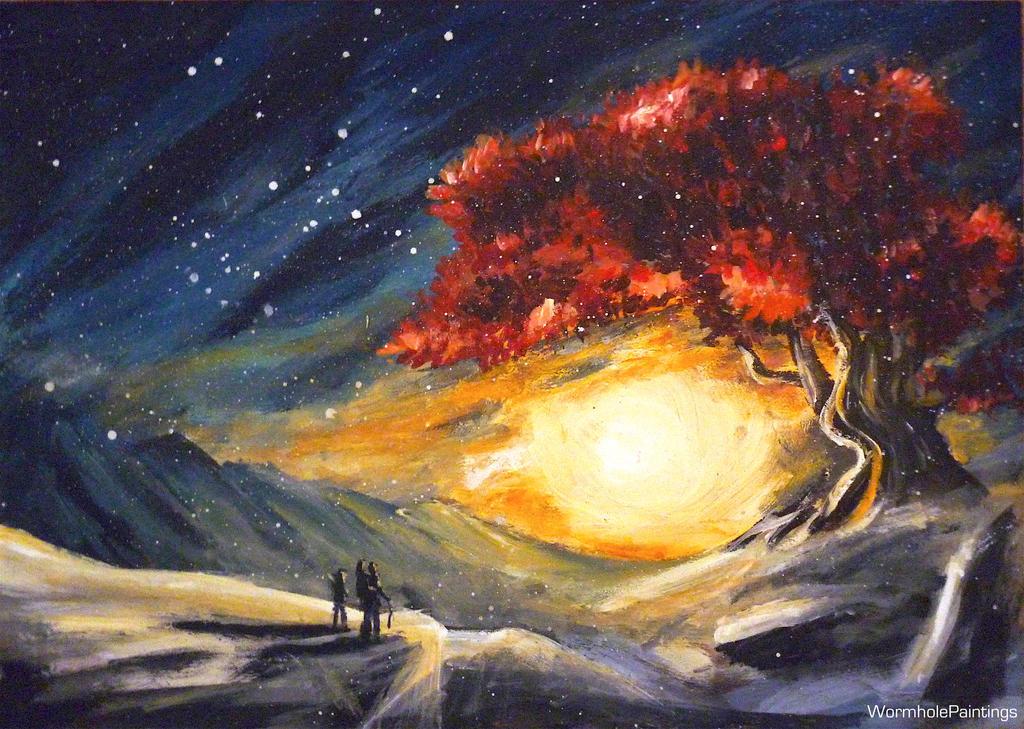 Heart tree :) by WormholePaintings
