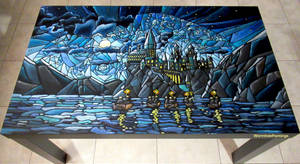 First night at Hogwarts... (coffee table) :)