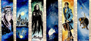 3 potterhead bookmarks... :) by WormholePaintings