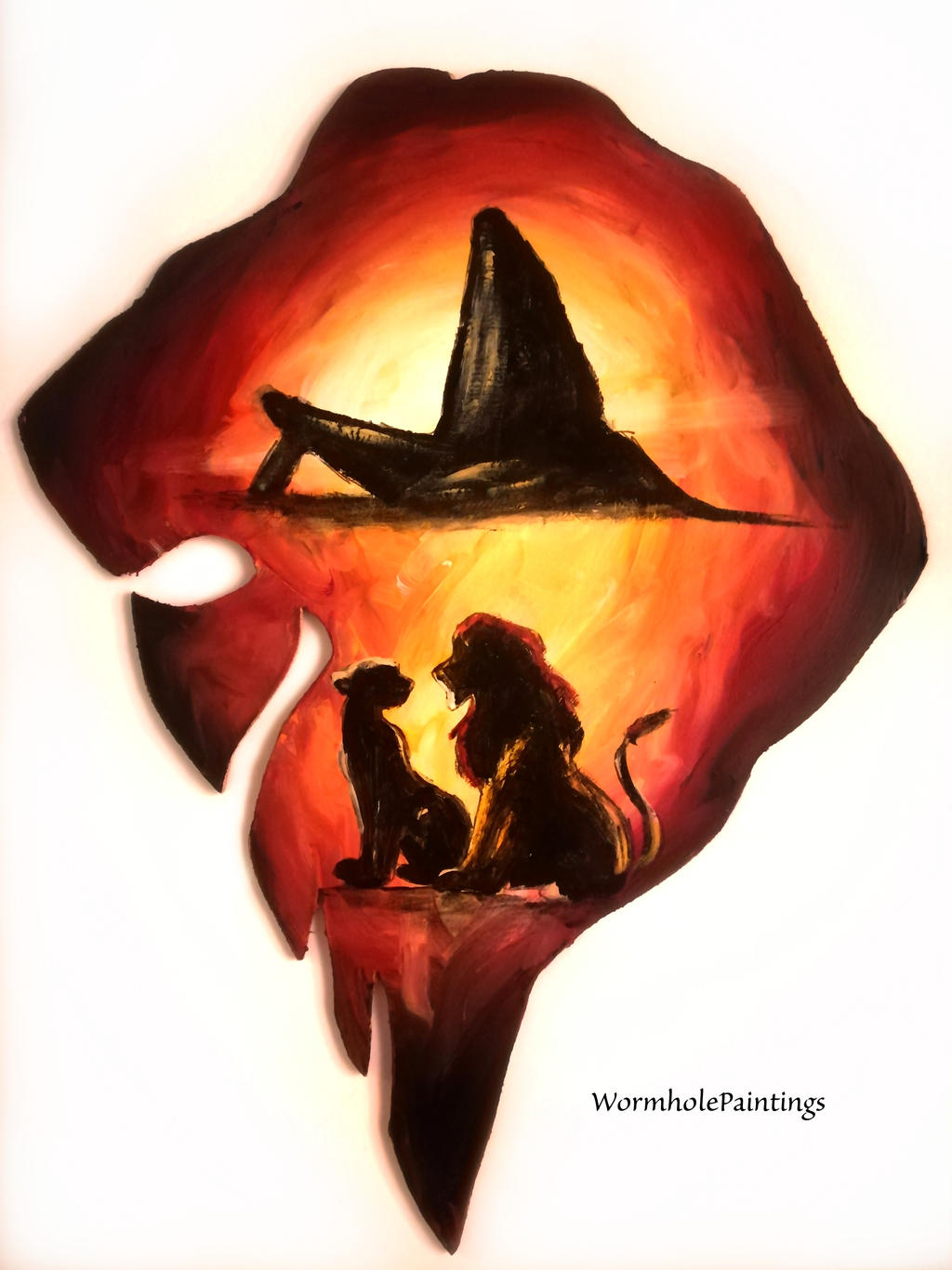 The Lion King Silhouette By Wormholepaintings On Deviantart