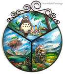Ghibli themed tondo :3
