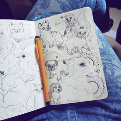 Sketchbook page  by Caspalpo