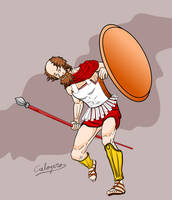 Socrates as an hoplite !