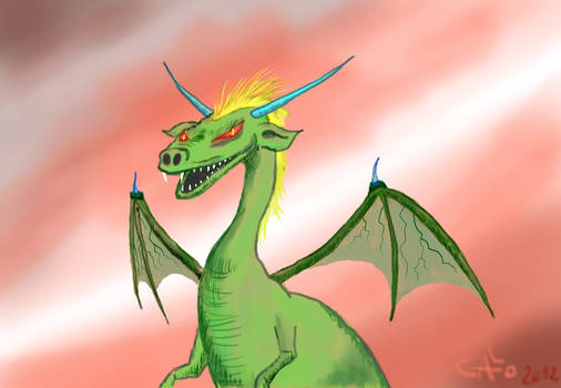 Dragon test for learning KRITA software