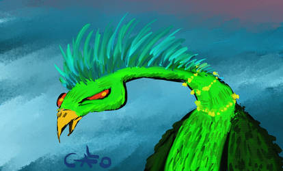 Green Dragon Bird
