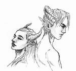 Female Demon sketch 2