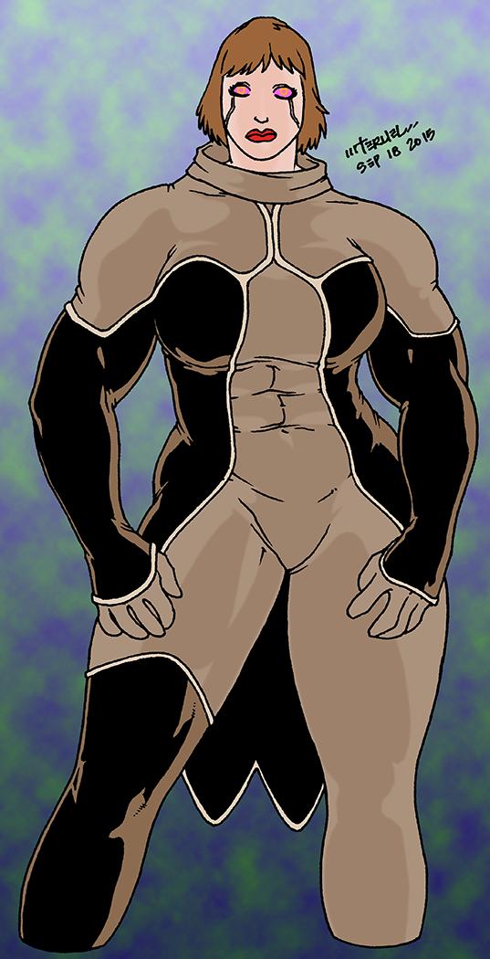 Cyborg female by MiltonTeruel
