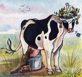 Vuvu the cow by Missopeho
