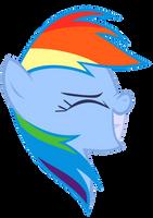 Rainbow Dash Vector - Awsim Face by Anxet