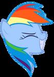 Rainbow Dash Vector - Awsim Face