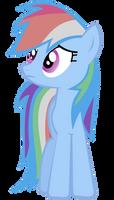 Rainbow Dash Vector - Sad by Anxet