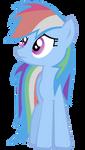 Rainbow Dash Vector - Sad