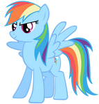 Rainbow Dash Vector - Brave
