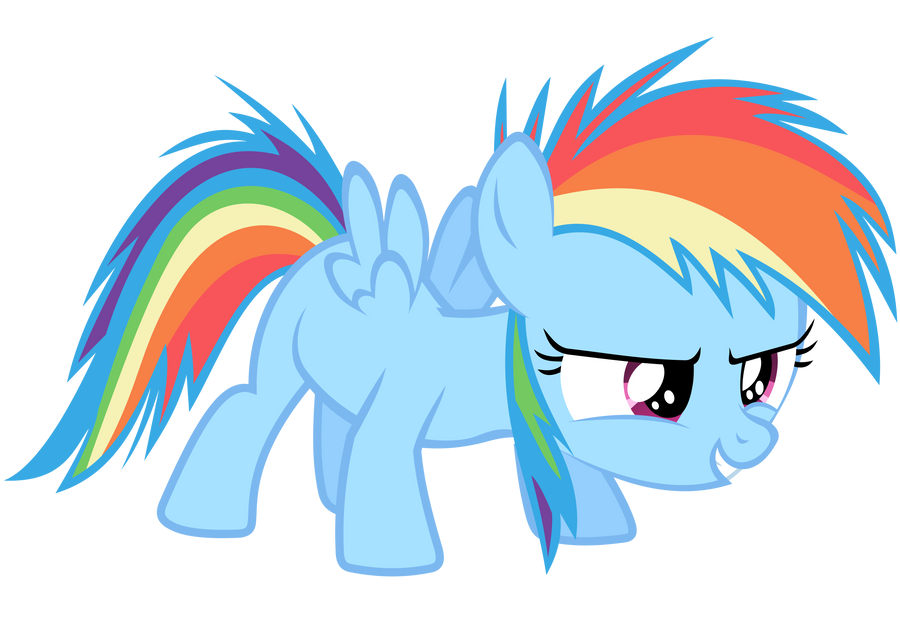 Rainbow Dash Vector - The Filly Is Ready! by Anxet on ...