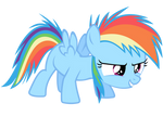 Rainbow Dash Vector - The Filly Is Ready!