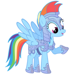 Rainbow Dash Vector - Rainbow Dashes New Armor