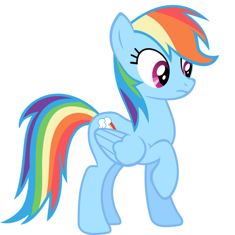 Rainbow Dash Vector - Oh... by Anxet