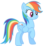 Rainbow Dash Vector - Oh...